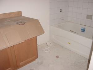 The second bathroom - 8 weeks left